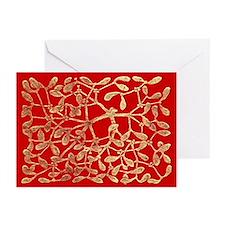 Mistletoe Greeting Cards