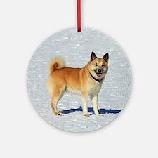 IcelandicSheepdog018 Round Ornament