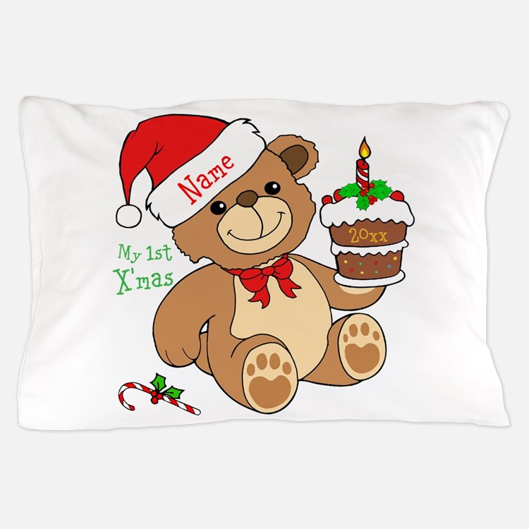 My 1st Christmas Pillow Case