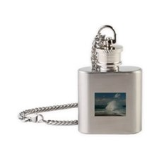 Surf at Great Point, Nantucket Flask Necklace