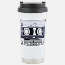 Customizable Cassette T Stainless Steel Travel Mug