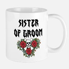 Sister of Groom skull Mugs