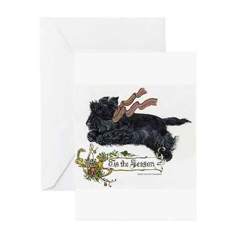 Scottish Terrier Season Greeting Cards