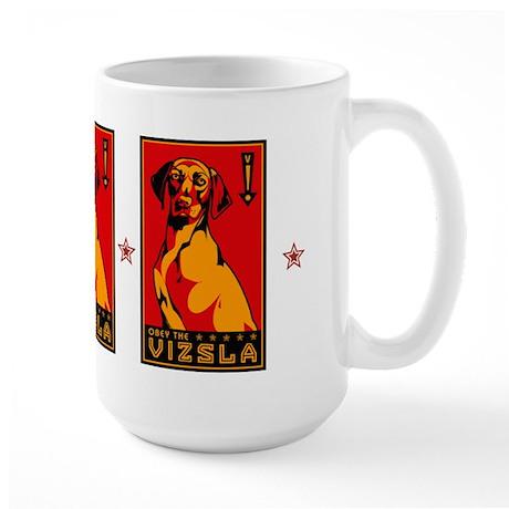 Obey the Vizsla! coffee Mugs