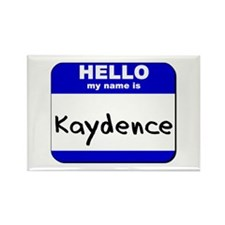 hello my name is kaydence Rectangle Magnet