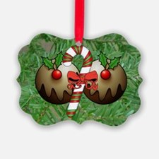 Christmas Puddings And Candy Ornament