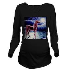 Dream HorseSQ.jpg Long Sleeve Maternity T-Shirt