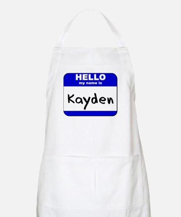 hello my name is kayden  BBQ Apron