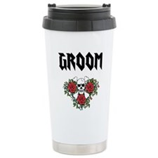Groom Skull Travel Mug