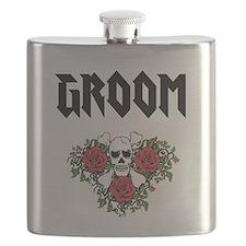 Groom Skull Flask