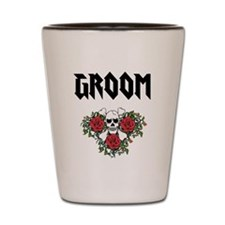 Groom Skull Shot Glass