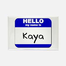 hello my name is kaya Rectangle Magnet
