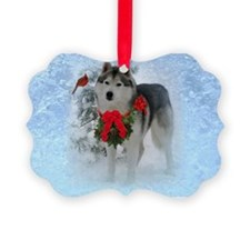 Siberian Husky Puppy Ornament - T Ornament