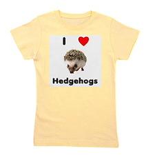 I Love Hedgehogs Girl's Tee
