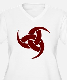 triple horn of odin Red Plus Size T-Shirt