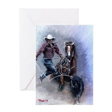 Calf Roper Quarter Horse Greeting Cards