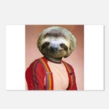 Sloth Yearbook Photo Altered Art Kawaii Anthropomo