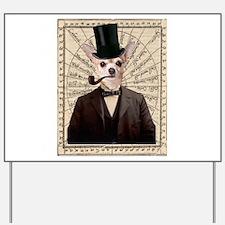 Steampunk Chihuahua Dog Victorian Altered Art Yard