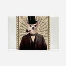Steampunk Chihuahua Dog Victorian Altered Art Magn