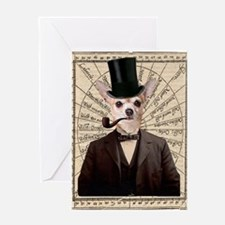 Steampunk Chihuahua Dog Victorian Altered Art Gree