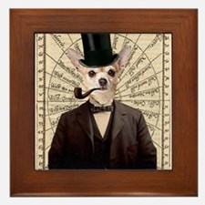 Steampunk Chihuahua Dog Victorian Altered Art Fram