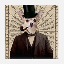 Steampunk Chihuahua Dog Victorian Altered Art Tile