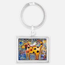 BowWow Mom #1 Landscape Keychain