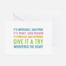 It's Impossible Said Pride Greeting Cards