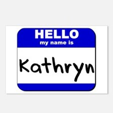 hello my name is kathryn  Postcards (Package of 8)