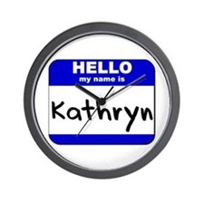 hello my name is kathryn  Wall Clock