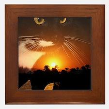 egyptian cat god Framed Tile