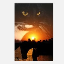 egyptian cat god Postcards (Package of 8)