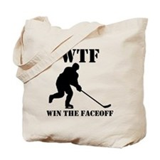 WTF Win The Faceoff Tote Bag