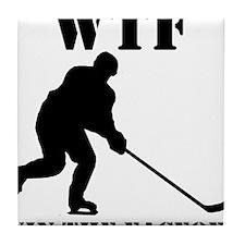 WTF Win The Faceoff Tile Coaster