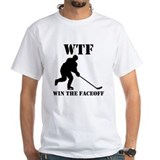 Funny hockey Mens Classic White T-Shirts
