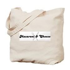 Macaroni & Cheese (fork and k Tote Bag