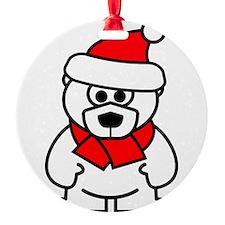 Christmas polar bear Ornament