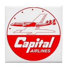 Capital Airlines Tile Coaster