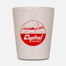 Capital Airlines Shot Glass