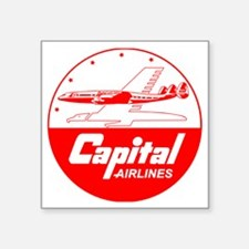 "Capital Airlines Square Sticker 3"" x 3"""