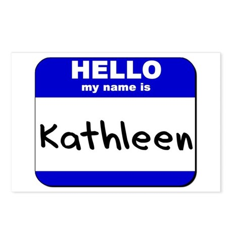 hello my name is kathleen Postcards (Package of 8
