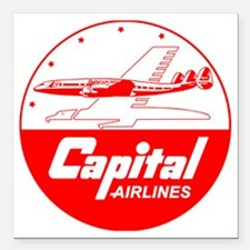 """Capital Airlines Square Car Magnet 3"""" x 3"""""""