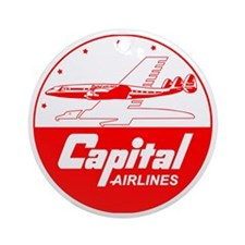 Capital Airlines Round Ornament