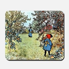 Carl Larsson: The Apple Harvest Mousepad