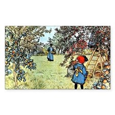 Carl Larsson: The Apple Harves Decal