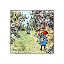 "Carl Larsson: The Apple Har Square Sticker 3"" x 3"""