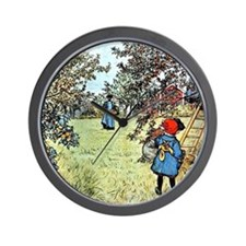 Carl Larsson: The Apple Harvest Wall Clock
