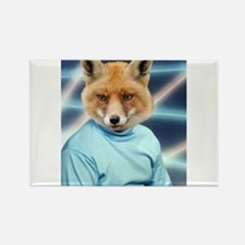 Fox Man Yearbook Photo Altered Art Kawaii Quirky M