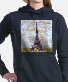 6x6in Sky And Eiffel Tower Pointillism Hooded Swea