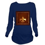 Old Leather with gold Fleur-de-Lys Long Sleeve Mat